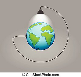 Earth - concept of clean energy.