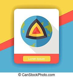earth core flat icon