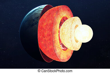 Earth core structure. Elements of this image furnished by...