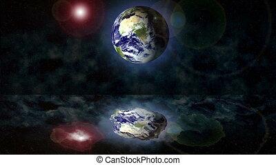 Earth cosmos abstract ocean