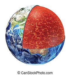 Earth cross section. Upper Mantle version. - Earth cross...