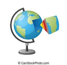 Earth Cutaway Isolated Cartoon Style Illustration
