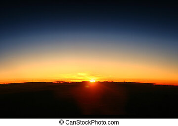 Earth Dawn Rise - The appears on a new day showing the curve...