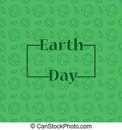 Earth day background with frame. Green background. Earth day...