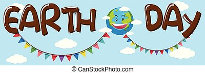Earth day banner concept