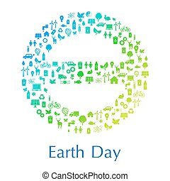 Earth day concept - International sign of Earth theta made...