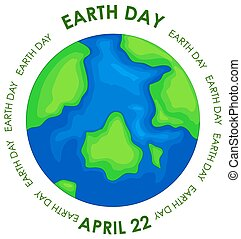 Earth day concept poster illustration