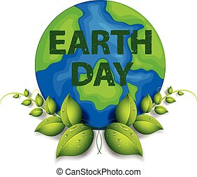Earth Day - Earth day theme with text