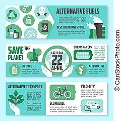 Earth Day ecological banner set design