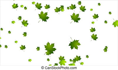 Earth Day ecology green leaves video animation
