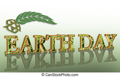 Earth day graphic 3D