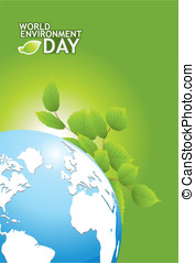 earth day - Grounded on a white background world map