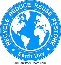 Earth day illustration - Vector earth day illustration with...