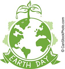 Earth Day Logo Icon