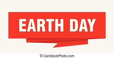 earth day sign. earth day paper origami speech bubble. earth...