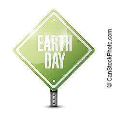 earth day sign illustration design