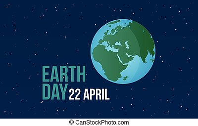 Earth Day with world at night