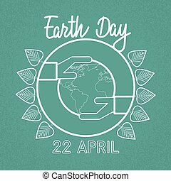 Earth Day World Hand Hold Globe Ecological Protection