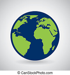 Earth design over gray background, vector illustration