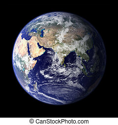 Earth from outer space - Asia & Africa