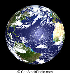 EARTH - Earth from outer space - Atlantic Ocean - Africa,...