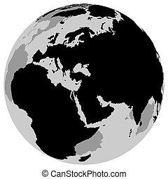 Earth Europe - Globe