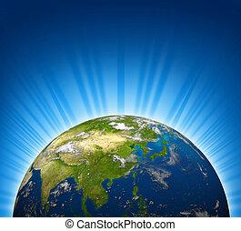 Earth Focus On Asia