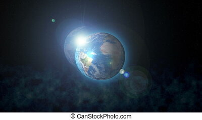 Earth Rotating, The World Spinning, Full Rotation