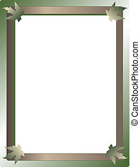 Earth frame with leaves
