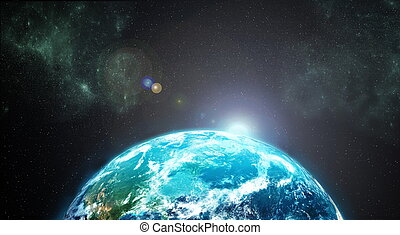 Earth from outer space - High Resolution picture of Planet...