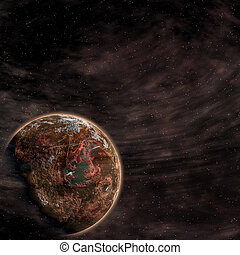 Earth from space on a black background