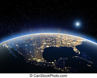 Earth from space - USA. Elements of this image furnished by...