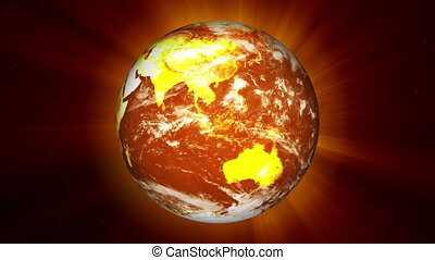 Earth Global Warming Illustration