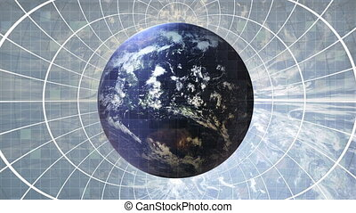 Earth - globalization - Background Animation - Art supplies...