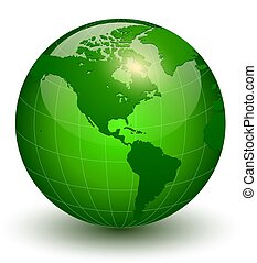 Earth globe 3D icon