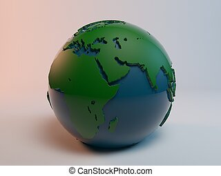 earth globe 3d