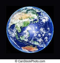 Earth Globe, Asia, high resolution image