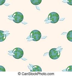 Cute Cartoon Earth Globe Earth Day Background Cute Cartoon Earth