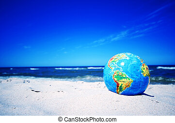 Earth globe. Conceptual image