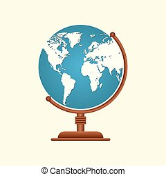 Earth globe design. Planet Earth icon. Vector illustration for web and mobile, banner, infographics.
