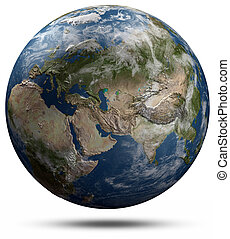 Earth globe - Eurasia. Elements of this image furnished by...