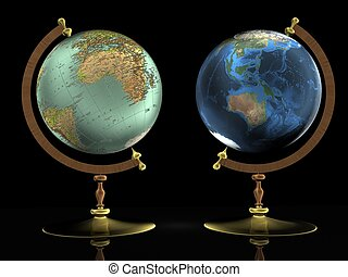 earth globe - Globe showing earth with continents