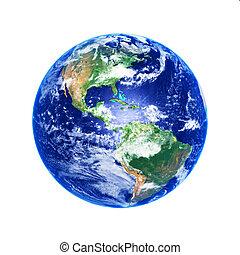 Earth Globe, high resolution image