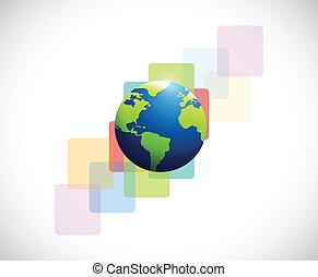 earth globe illustration design