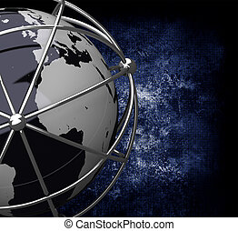 Earth Globe in Cage