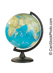 Earth globe isolated on the white b