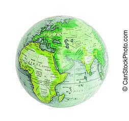 Earth globe isolated on white