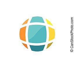 earth globe logo design