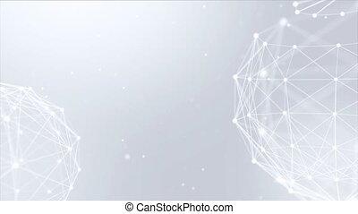 Earth Globe Network Rotating With Plexus Digital Connections loop