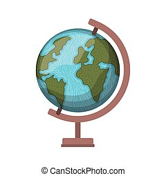 earth globe of school on white background